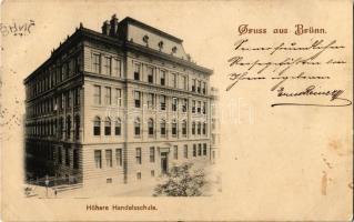1900 Brno, Brünn; Höhere Handelsschule / school