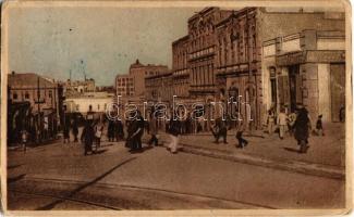 1928 Baku, Bacou; Municipal street, Tavriz, shops (EB)