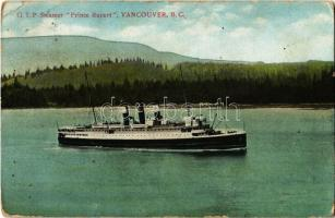 1913 G. T. P. (Grand Trunk Pacific) Steamer Prince Rupert, Vancouver BC (Rb)