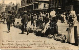 1908 Cape Town, Flower Sellers on Adderley street (EK)