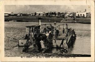 Rabat, Le Bac a Vapeur sur lOued Bou-Regrez / steam ferry (EK)
