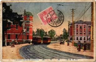 1922 Fukuoka, Hukuoka; The Nishi Nakaji / trams. TCV card (EK)