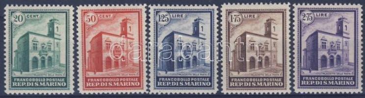 San Marino 1932 A posta új épülete sor / set Mi 175-179 (**Mi EUR 1.300,-)