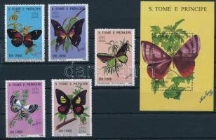 1996 UNESCO, Lepkék Mi 1681-1685 + blokk Mi 352 (Mi EUR 22.50)