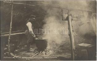 Tábori konyha. Hofmann cs. és kir. altábornagy hadtestje. Hadifénykép Kiállítás / WWI Austro-Hungarian K.u.K. military, field kitchen
