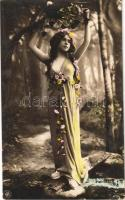 1906 Erotic lady. Reutlinger, Paris. NPG. 428/3.