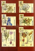 1982 Mérgező növények sor 6 db CM-en Mi 2691-2696