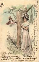1903 Romantic couple. Kunstverlag Rafael Neuber. s: E. Döcker jun. (apró lyuk / tiny pinhole)