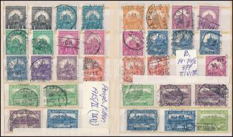 1928 Pengő-fillér (II.) 33 db bélyeg A + B fogazásokkal (8f B hiányzik)