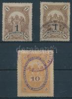3 db Budapest Székesfőváros Törvényhatósága bélyeg