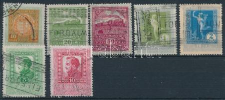 1930 7 db illetékbélyeg