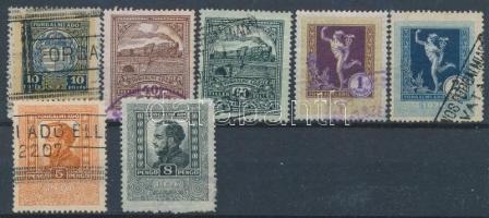 1926-1930 7 db illetékbélyeg