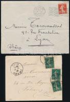 1914-1920 2 db levél
