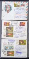 66 db javarészt szovjet küldemény 22 kartonlapon feldolgozva, sok motívummal