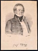 cca 1830 gróf Fekete János (1741-1803) generális litografált portréja 13x18 cm