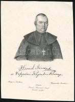 Horváth János (1769-1835) püspök litografált képe. 15x20 cm
