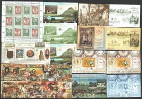 2001-2002 Bélyegnap kisív, Millennium blokkpár és Jubiláló közgyűjtemény + 11 db bélyegnapi emlékív (21.500)