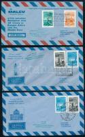 1970 évek 12 db légi posta levél alkalmi bélyegzésekkel