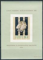 1961 Liszt Ferenc (I.) vágott blokk (6.000)