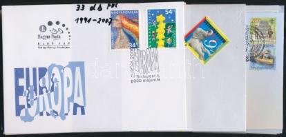1991-2007 33 db (18 klf) Europa CEPT FDC (Névérték: 4.525 Ft) (31.300)