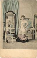Erotic lady undressing. A.B. editeur, Paris