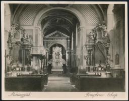 1929 Máriagyüd, templombelső, 14x18,2 cm