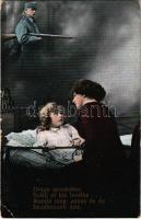 1916 Drága apuskához szállj el kis levélke / WWI Austro-Hungarian K.u.K. military, romantic couple, letter from home. L. & P. 5765/II. (EK)