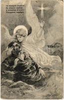 Ha elmegyek messzire ne sirasson senkise / WWI Austro-Hungarian K.u.K. military, injured soldier with guardian angel (EK)