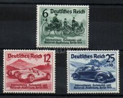 1939 Autókiállítás sor Mi 686-688