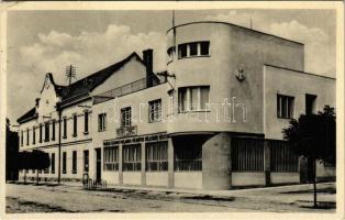 Dunaszerdahely, Dunajská Streda; Földműves Kölcsönös Pénztár / agricultural loan bank, savings bank + 1938 Dunaszerdahely visszatért So. Stpl. (EK)