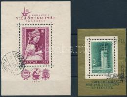 1958 Brüsszeli világkiállítás + Televízió blokk (20.000)