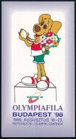 1998 Olympiafila Budapest levélzáró bélyegfüzet, teljes (24 db bélyeggel)