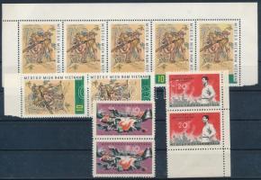 1964 Vietcong Mi 9-10 párban + 7 x Mi 15 (Mi EUR 55.-)