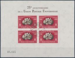 1950 UPU vágott blokk szép minőségben (160.000)