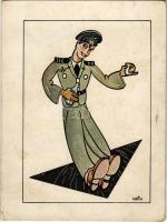 Második világháborús magyar katonai pilóta humor / WWII Hungarian military pilot humor. 434-931 W. s: Telbisz (EK)