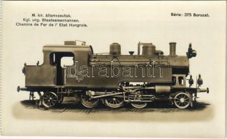 M. kir. államvasutak 375. sorozat gőzmozdonya / Hungarian State Railways locomotive