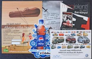 Kb. 200 MODERN képeslap: 1990-2010 közötti magyar reklámok, sokszínű változatos anyag / Cca. 200 modern motive postcards: Hungarian advertisement from 1990-2010, varied material