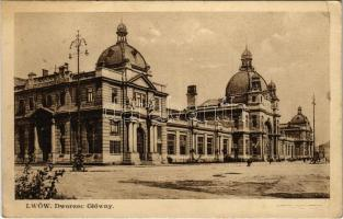 1930 Lviv, Lwów, Lemberg; Dworzec Glówny / Hauptbahnhof / railway station (EK)