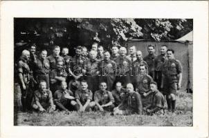 1929 Jamboree. A magyar cserkész csapat vezetősége / Hungarian boy scouts at the 3rd World Scout Jamboree (Upton), leaders of the Hungarian troop, scout camp (non PC) (EK)