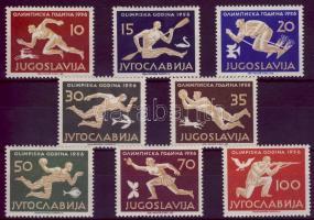 Jugoszlávia 1956 Melbournei olimpia Mi 804-811 (Mi EUR 150.-)