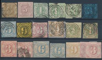 Német államok Thurn und Taxis 1859-1866 19 db bélyeg (Mi EUR 370,-)