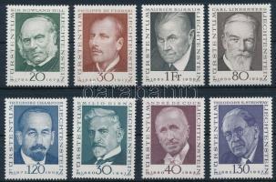 1968-1972 Híres emberek 3 db sor Mi 503-505, 512-513, 570-572