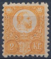 1871 Réznyomat 2kr eredeti gumival, falcnyomokkal (11.000)