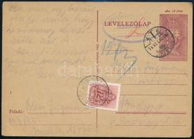 1943 Cenzúrás levelezőlap munkaszolgálatból, portózva