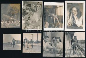 cca 1948 Bence Pál (1913-1989) budapesti fotóriporter, fotóművész, szakíró hagyatékából 11 db vintage fotó ugyanabból az albumból, de csak egy kép jelzett szerzői pecséttel, 17x23 cm és 5x5,5 cm