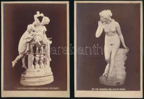 cca 1872 Klösz György (1844-1913) fényirdai műtermében készült műtárgyfotók, az egyiken (a képmezőben) felirat jelzi a szerzőt, 15x10,5 cm