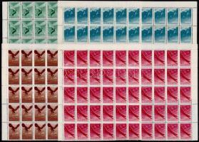 1943 Repülő alap (IV.) sor 50-es ívdarabokban (20.000) (ráncok / creases)