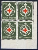 1953 Henri Dunant ívsarki négyestömb Mi 164