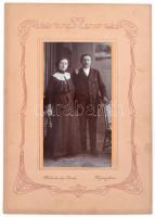 cca 1930 Nyíregyháza, Malachovsky István fényképész műtermében készült vintage fotó, 18,8x10 cm, karton 32x22 cm