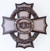 1916. A Polgári Hadi Érdemkereszt III. osztálya zománcozott, jelzett Ag kitüntetés, a hátlapon koszorún BBA, a tűn BACHBRUCH gyártói jelzéssel (46x46mm) T:1- / Hungary 1916. War Cross for Civil Merit, IIIrd Class enamelled, hallmarked Ag decoration, with BBA makers mark on the reverse side of the wreath and BACHBRUCH on the needle (46x46mm) C:AU  NMK 290.